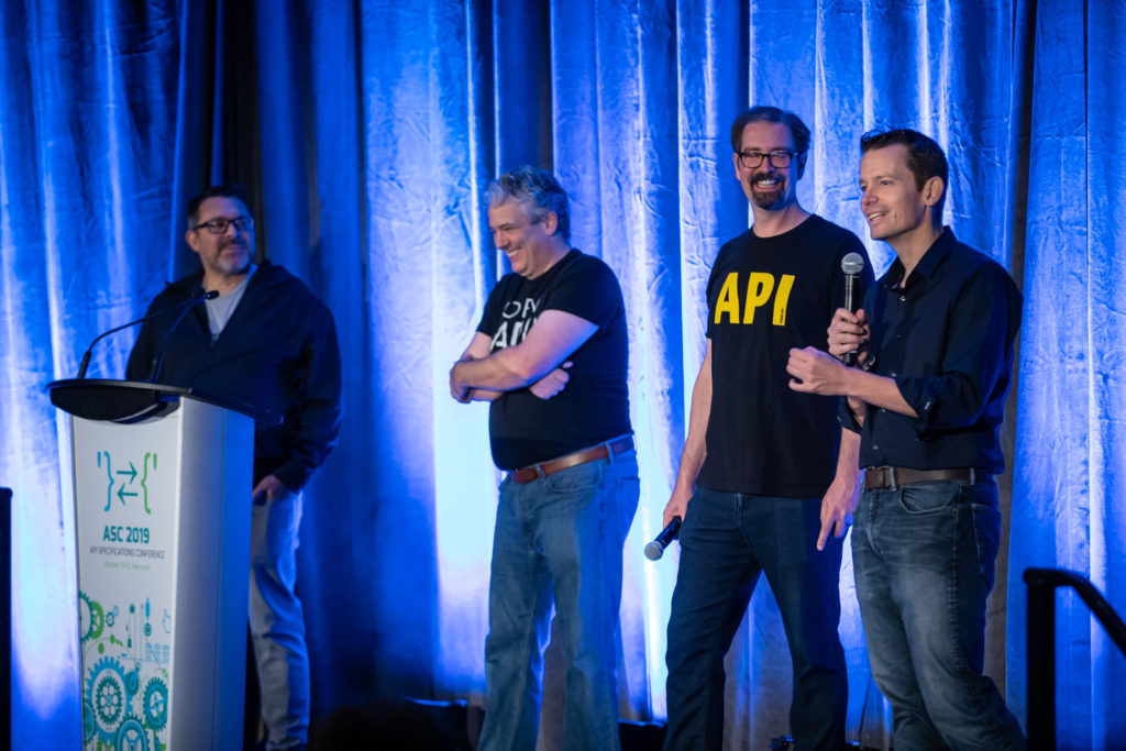 Several key members of the OpenAPI Initiative project presenting at the API Specifications Conference 2019.