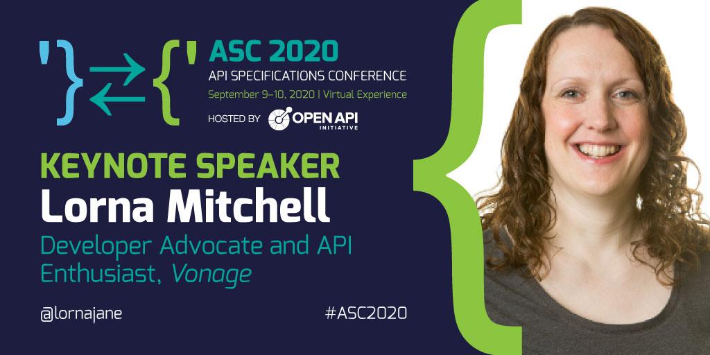 Keynote Speaker, Lorna Mitchell. Developer Advocate and API Enthusiast, Vonage