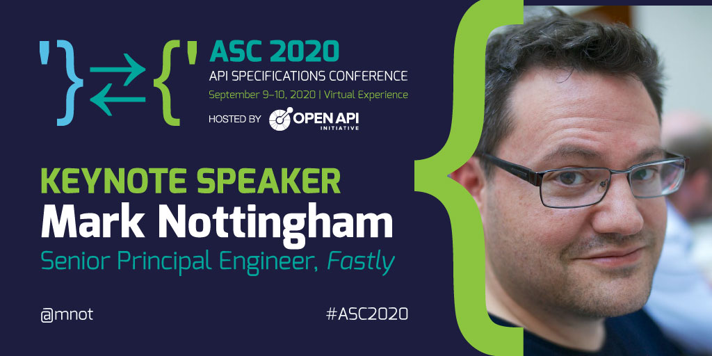 Keynote speaker, Mark Nottingham. Senior Principal Engineer, Fastly.